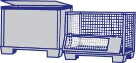 Gitterboxen-Batteriebehaelter